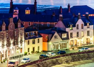 Stonehaven at night