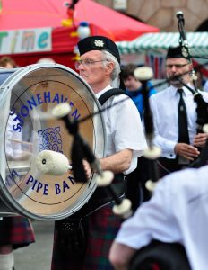 Stonehaven Pipe Band drummer
